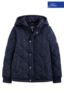 Joules Navy Murray Quilted Hooded Jacket