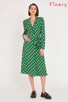 Finery Green Willow Shirt Dress