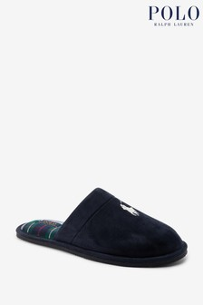 Polo Golf by Ralph Lauren Mens Klarence Microsuede Slippers
