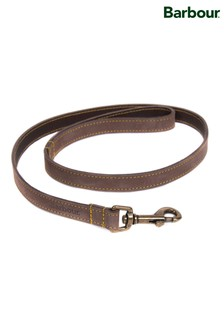 Barbour® Brown Leather Dog Lead