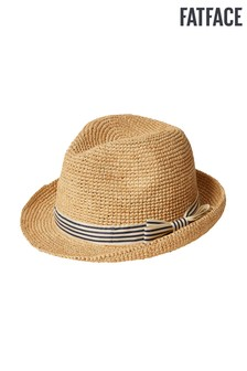 ffe66c6357b6f FatFace Natural Stripe Band Trilby