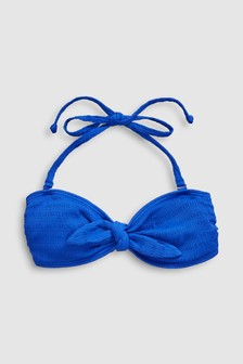 Tie Front Bandeau Bikini Top