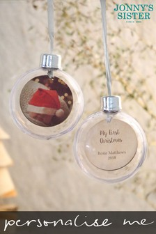 Personalised First Christmas Bauble by Jonny's Sister