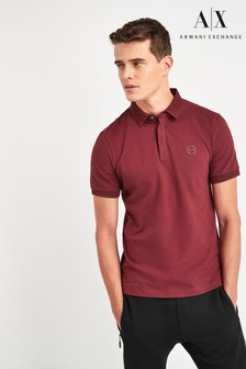 Armani Exchange Burgundy Poloshirt