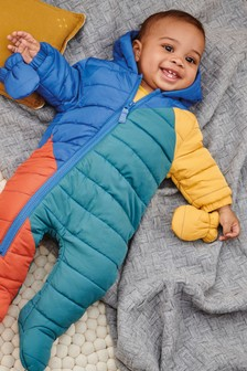 Colourblock Pramsuit (0mths-2yrs)