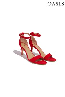 Oasis Red Estella Kitten Heel