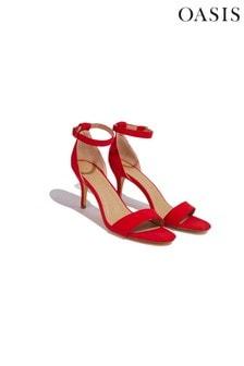 Oasis Red Estella Kitten Heel