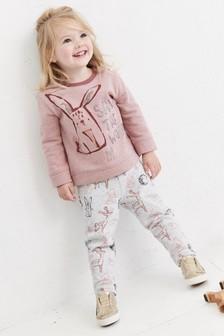 Bunny Jogger And Sweatshirt Set (3mths-6yrs)