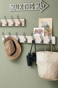 Extra Large Wood And Metal Hooks