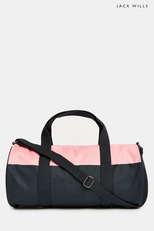 Jack Wills Pink/Navy Ledbrook Gym Bag