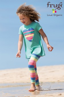 Frugi Organic Rainbow Striped Legging