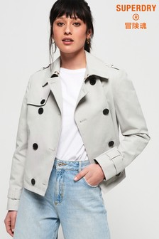 Superdry Cropped Azure Trench Coat