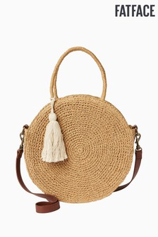 FatFace Natural Straw Circle Tote