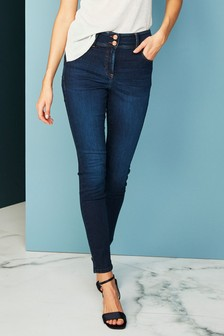 bright blue jeans outfit