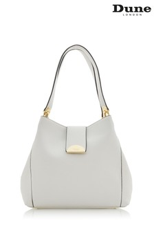 Dune Accessories White Large Semi Circle Slouch Day Bag