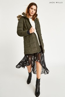 Jack Wills Khaki Brampton Down Coat