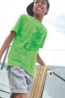 Футболка с короткими рукавами и графическим принтом (3-16 лет)