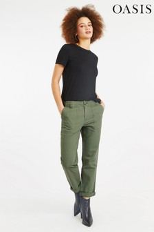 Oasis Green Utility Trouser