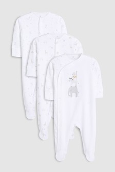 Delicate Animals Sleepsuits Three Pack (5-12mths)