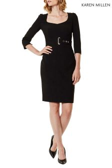 Karen Millen Black Interlaced Corset Dress