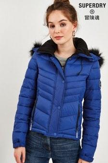 Superdry Blue Fuji Coat