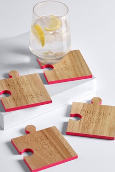 Set of 4 Jigsaw Coasters