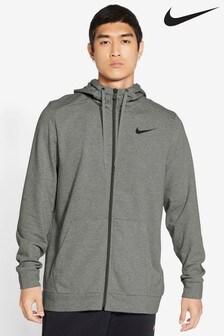 Nike Dri-FIT Grey Zip Through Training Hoodie