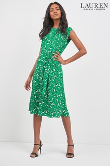 Lauren Ralph Lauren Green Floral Vilodie Dress