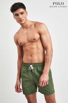 מכנסי שחיה בצבע זית של Polo Ralph Lauren