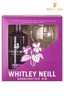 Violet Gin And Balloon Glass Gift Set by Whitley Neill