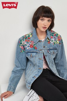 Levi's® Ex Boyfriend Heart of Flowers Denim Jacket