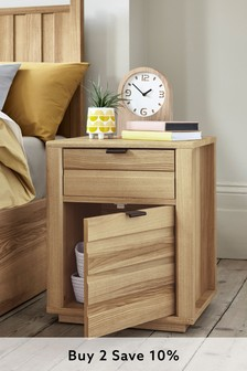 Barton Storage 1 Drawer Bedside Table