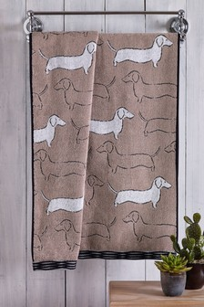 Sausage Dog Towel