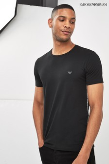 Emporio Armani Black Side Logo T-Shirt