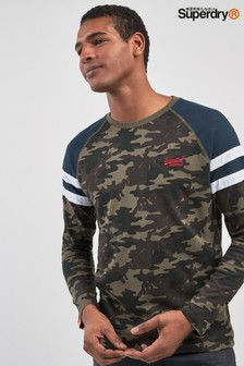 Superdry Khaki Camo Long Sleeve Tee