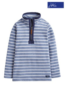 Joules Blue Dale Saltwash Half Zip Sweatshirt