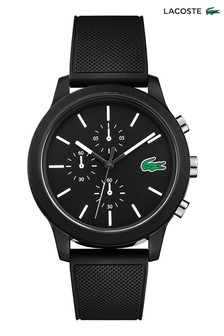 Lacoste.12.12 Black Silicone Watch