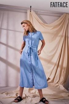 FatFace Angie Smith Edit Carey Denim TENCEL™ Shirt Dress