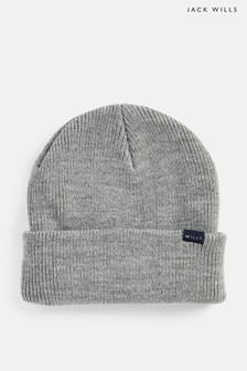 Jack Wills Grey Consland Rib Beanie
