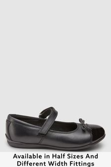 Leather Patent Toe Cap Mary Jane Shoes (Older)