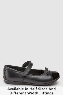 Leather Patent Toe Cap Mary Jane Shoes