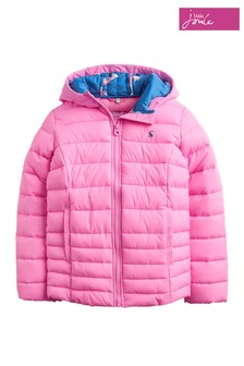 Joules Pink Kinnaird Girls Quilted Packable Jacket