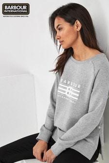 Barbour® International Grey Marl Cortina Logo Sweatshirt