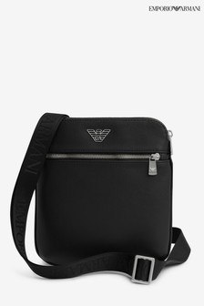 Emporio Armani Black Small Messenger Bag
