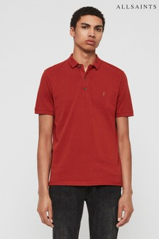 AllSaints Brick Red Reform Polo Shirt