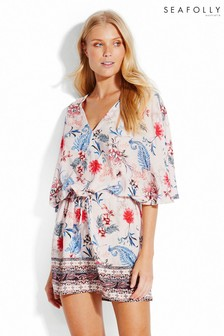 Seafolly® White Water Garden Border Kaftan
