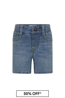 Baby Boys Blue Cotton Blend Shorts