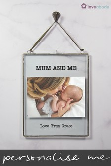 Personalised New Baby Hanging Photo Frame by Loveabode