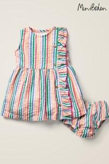 Mini Boden Multi Woven Ruffle Dress