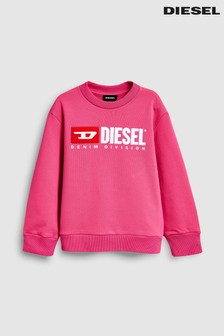 Diesel® Kids Pink Logo Sweater